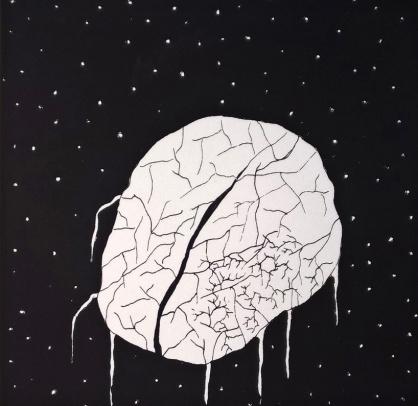 Ster, 2016. Zeefdruk op papier. 15 x 15 cm.