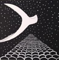 Ster, 2016. Zeefdruk op papier. 15 x 15 cm