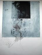 Mermaid, 2012. Ets, fotopolymeer op papier. 50 x 50 cm.