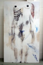 No Hide, 2010. Mixed media op multiplex. 100 x 170 cm.