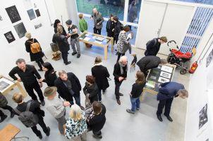 Opening expositie Uit je Plaat, Daglicht Eindhoven 2016. Foto Claudia den Boer.