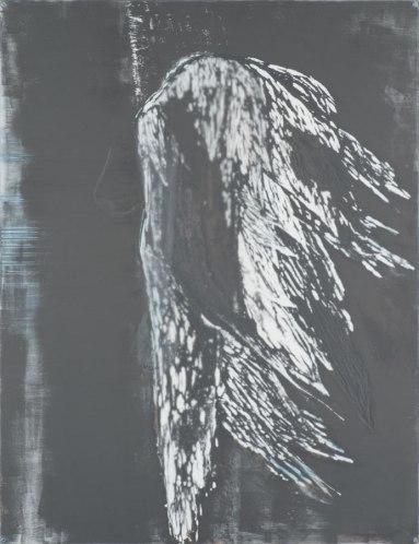 Raven, 2013. Mixed media op hout. 125 x 150 cm.