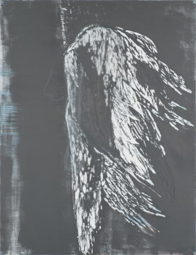 Raven, 2013. Mixed media op hout. 125 x 150 cm.