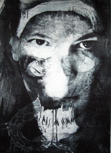 Sea Witch, 2012. Ets, fotopolymeer op papier. 50 x 70 cm.