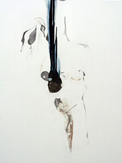 Swan, 2011. Mixed Media op hout. 125 x 150 cm.