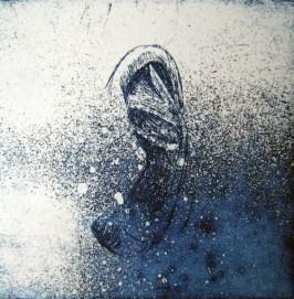 Shell, 2013. Ets op papier. 10 x 10 cm.